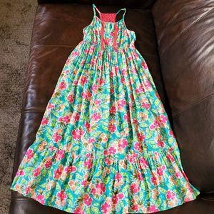 CAT & JACK Floral Maxi Crochet Dress